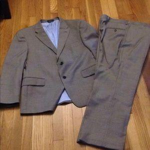 Tommy Hilfiger tan suit